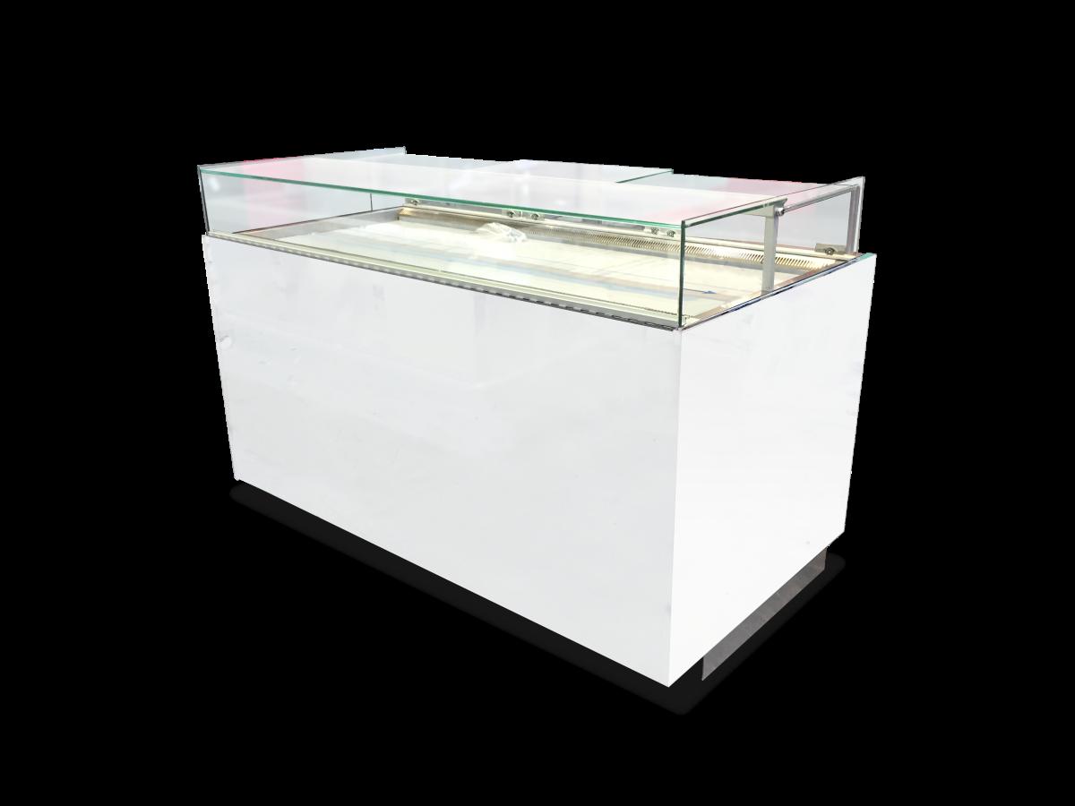 Comptoir réfrigéré BERYL 165 finition laquée blanc