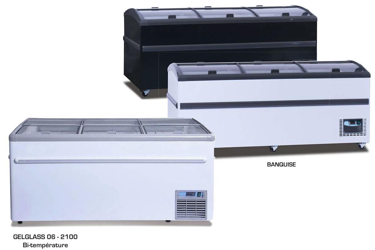 Congelateur GELGLASS / BANQUISE frielectric