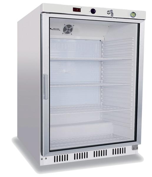 HVL 141 blanc vitré - Amoire blanche réfrigérée