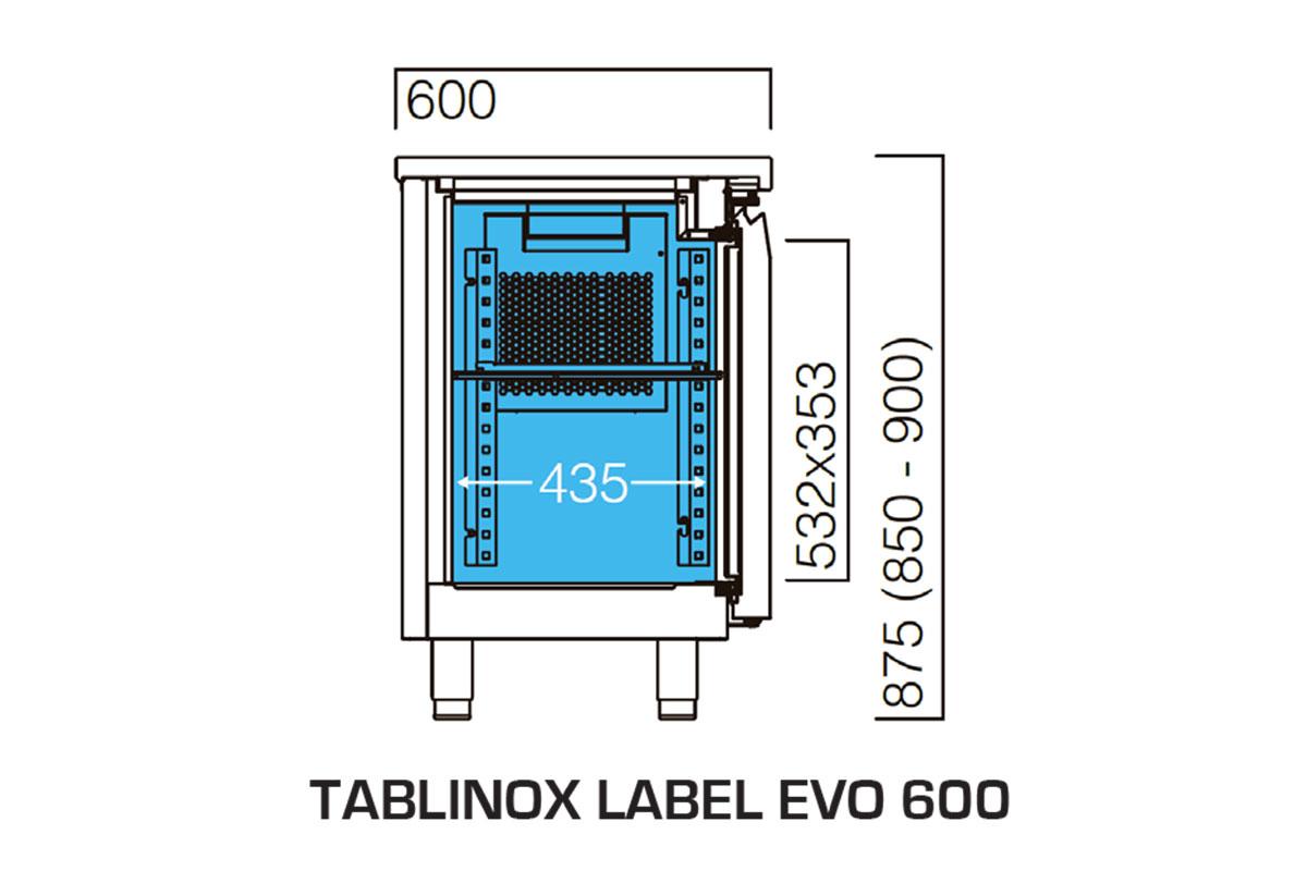PICTOGRAMME TABLE REFRIGEREE TABLINOX EVO 600