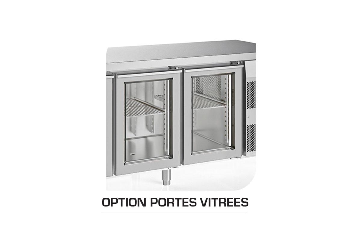 TABLINOX EVO 700 OPTION PORTES VITREES