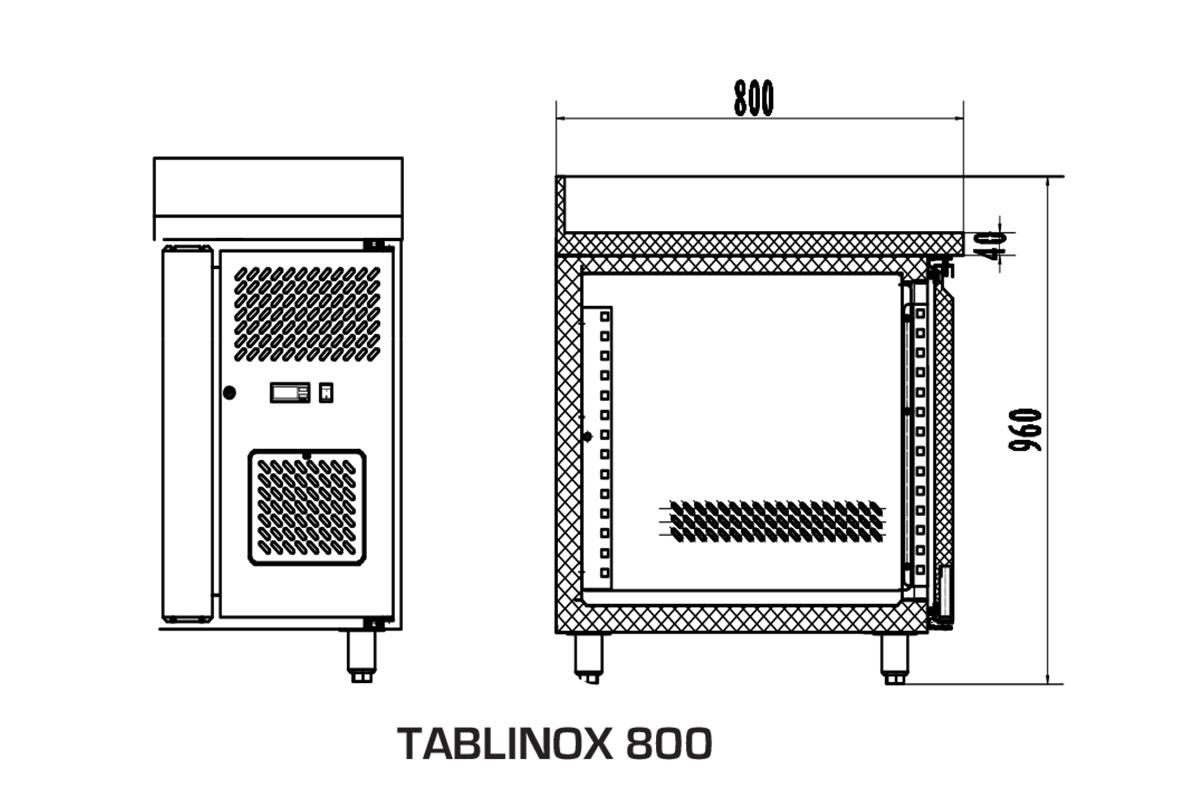 PICTOGRAMME TABLE REFRIGEREE TABLINOX 800