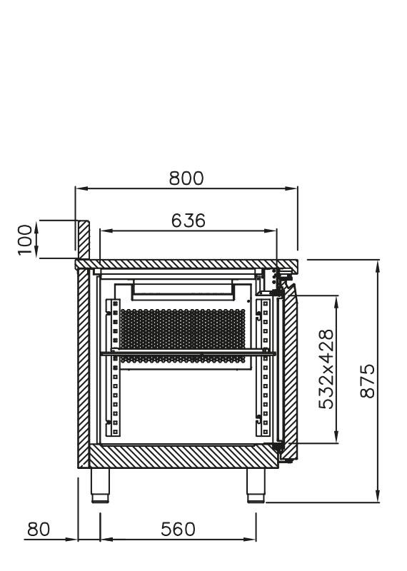 PICTOGRAMME DESSERTE INOX SYSTEMINOX 800