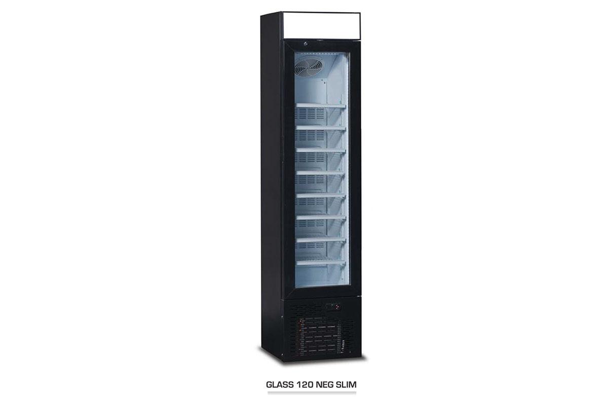 ARMOIRE REFRIGEREE GLASS120 SLIM NEG