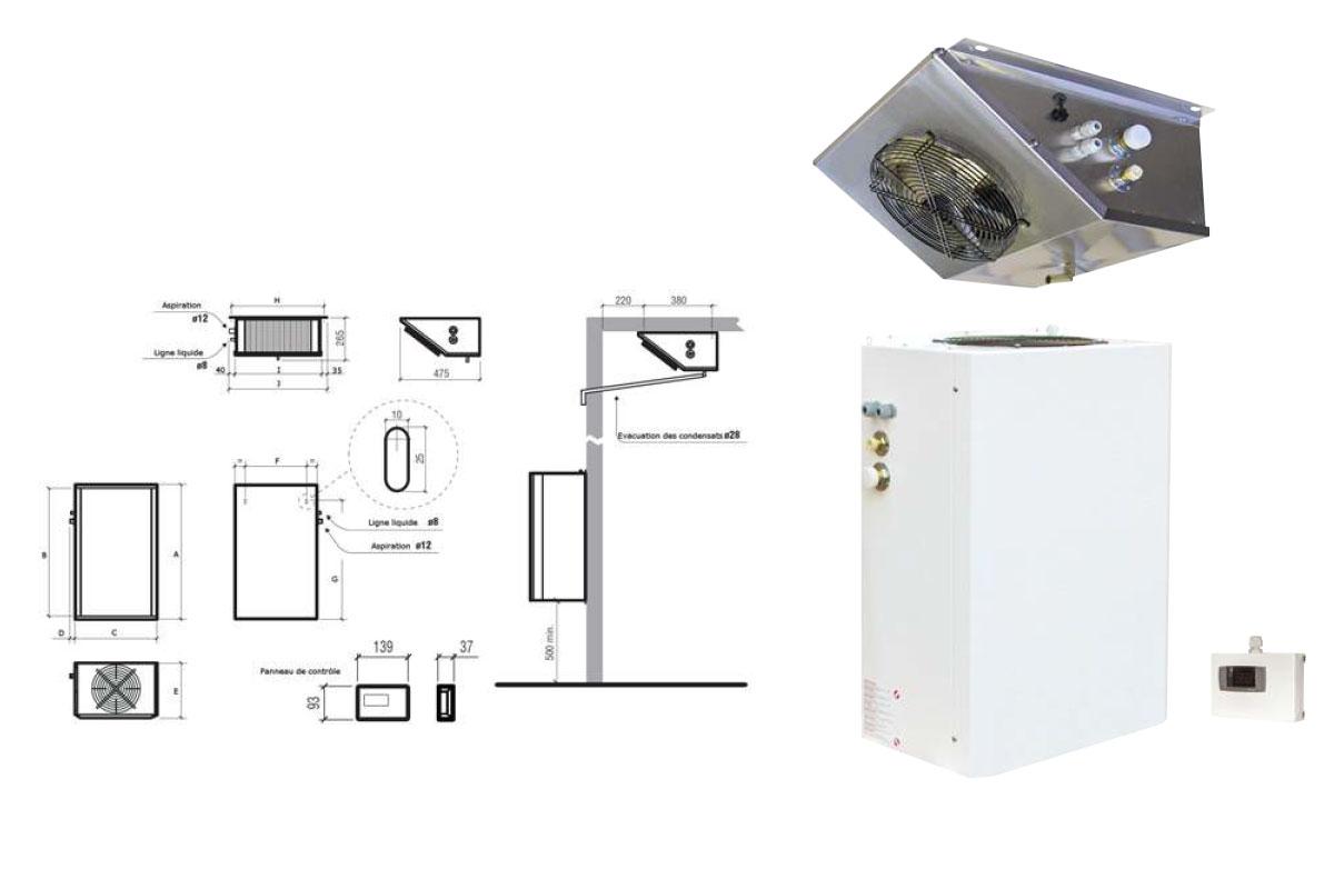 ST Split systeme à paroi frielectric