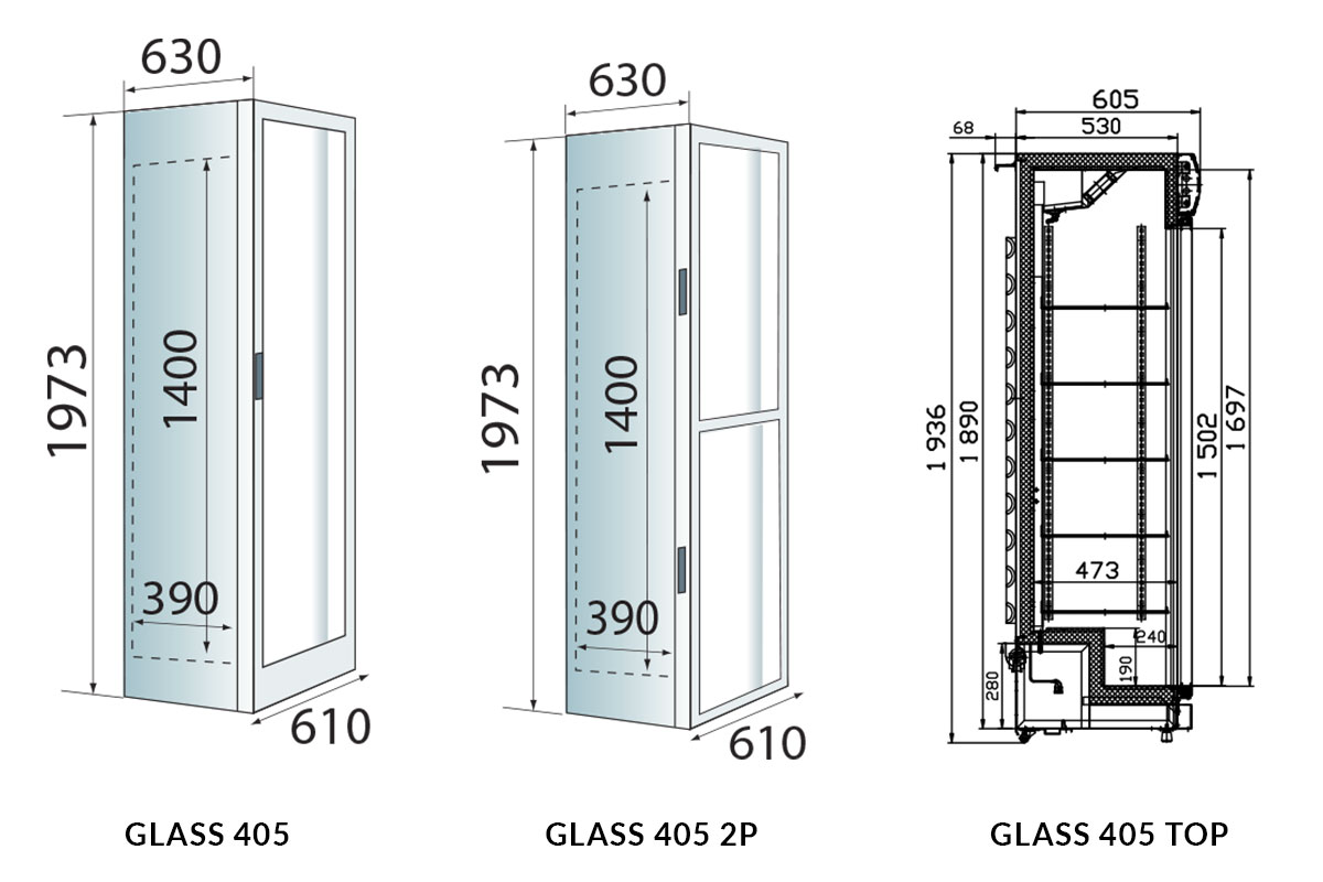 PICTOGRAMME ARMOIRE REFRIGEREE GLASS 405