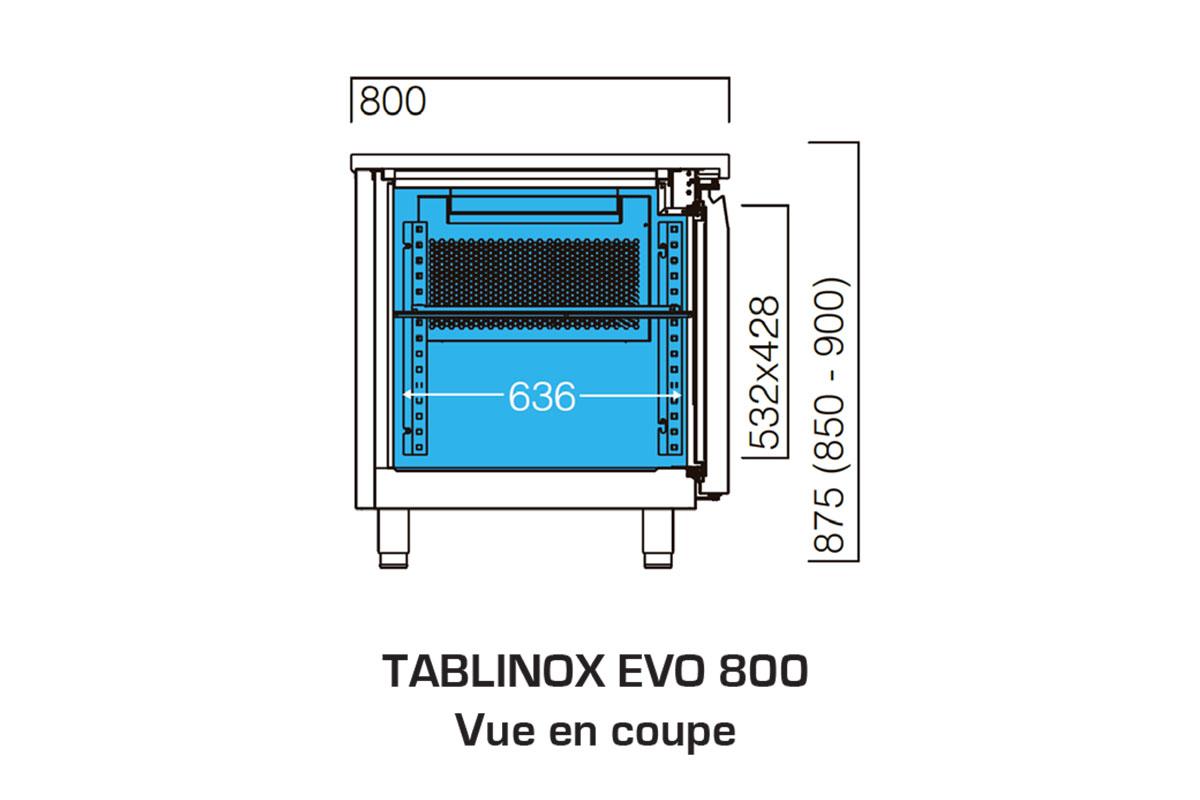 PICTOGRAMME TABLE REFRIGEREE TABLINOX EVO 800