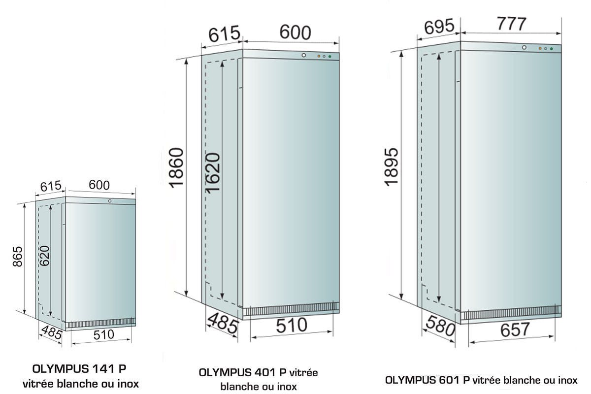 PICTOGRAMME ARMOIRE REFRIGEREE OLYMPUS VITRE