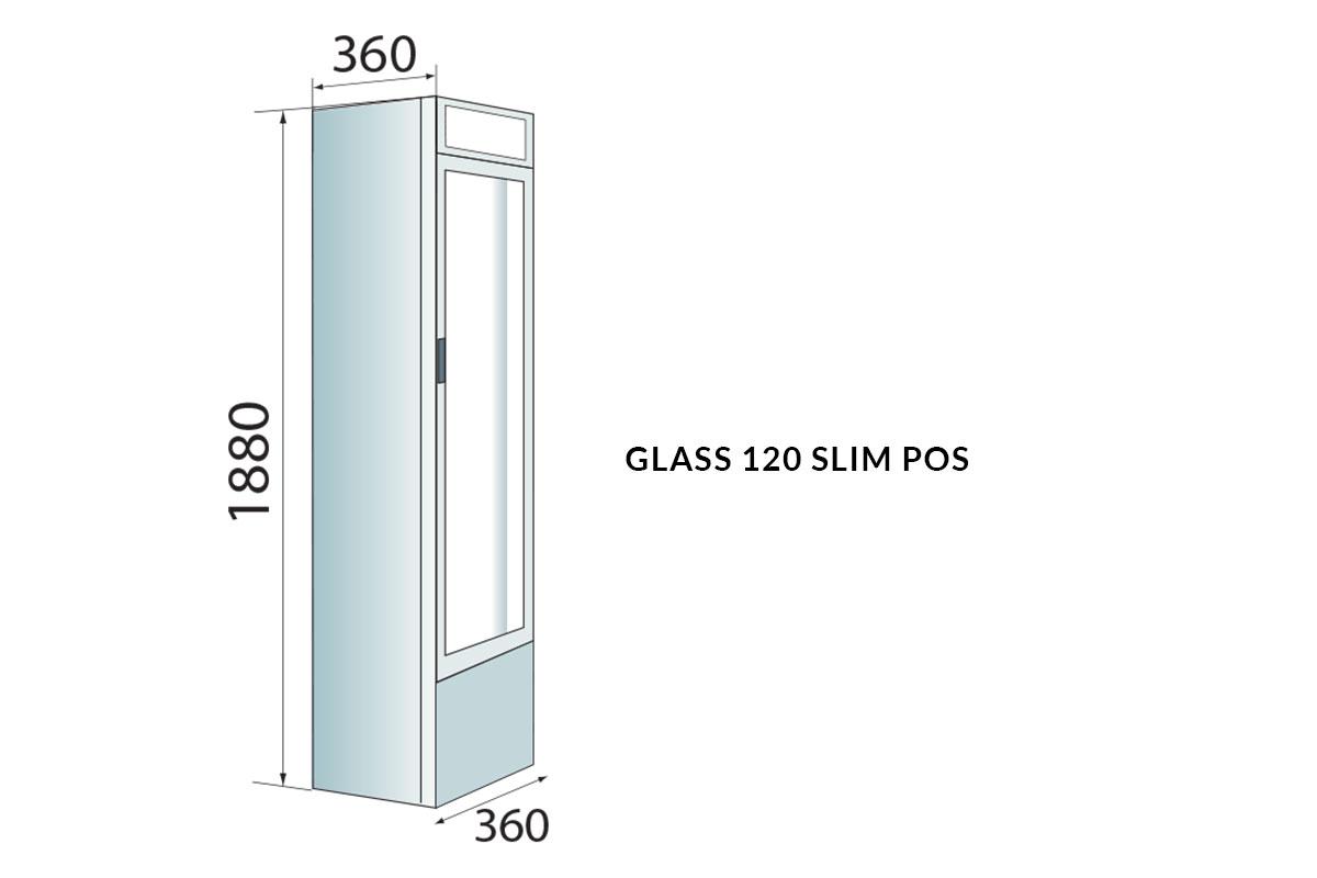 PICTOGRAMME ARMOIRE GLASS 120 SLIM POS