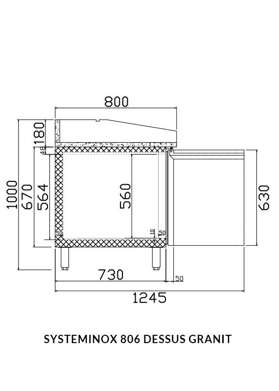 PICTOGRAMME DESSERTES INOX SYSTEMINOX 806 GRANIT