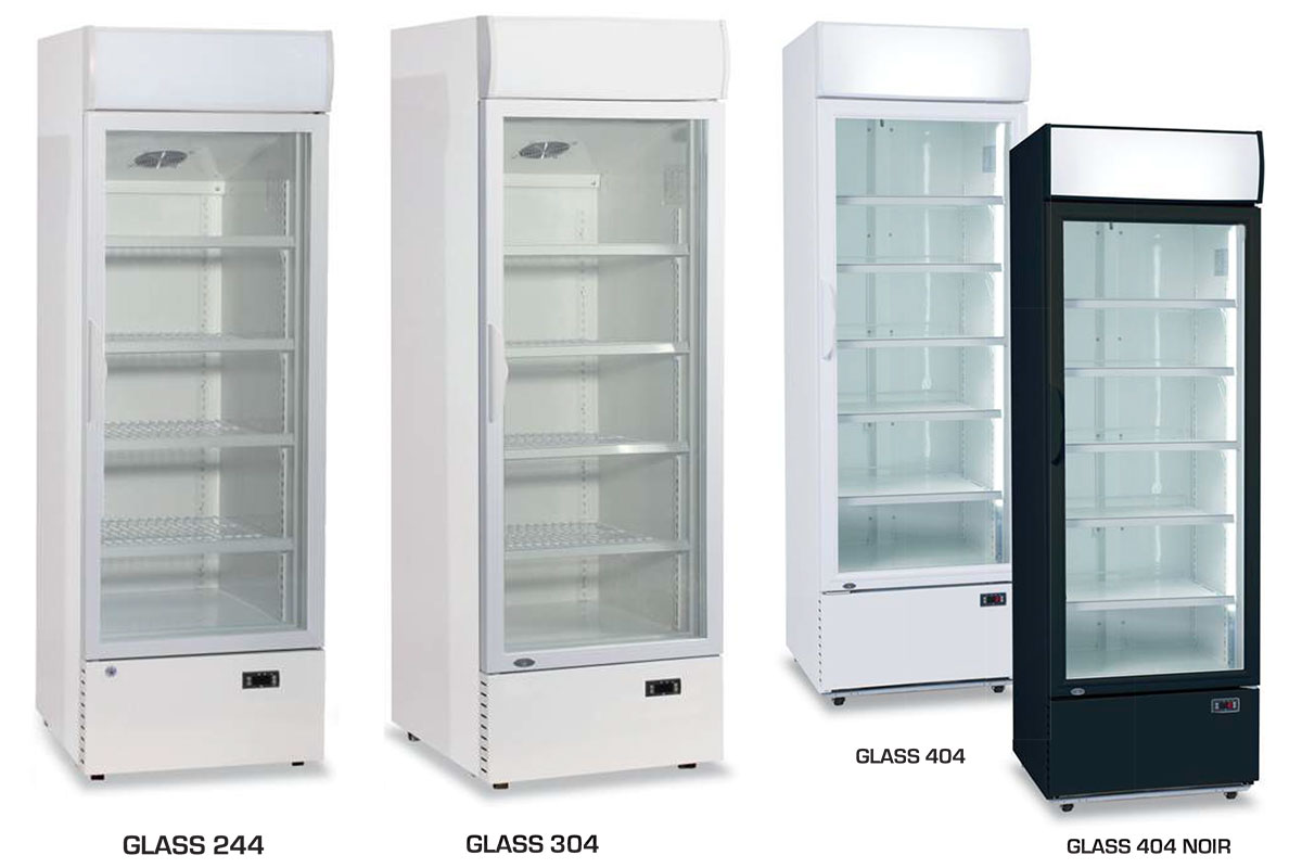 ARMOIRE REFRIGEREE GLASS 244 - 304 - 404