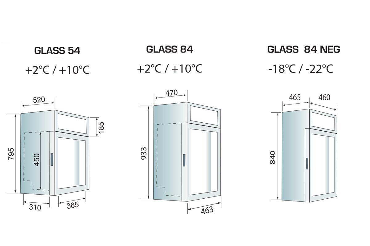 PICTOGRAMME VITRINE MULTISERVICE GLASS 54 - 84