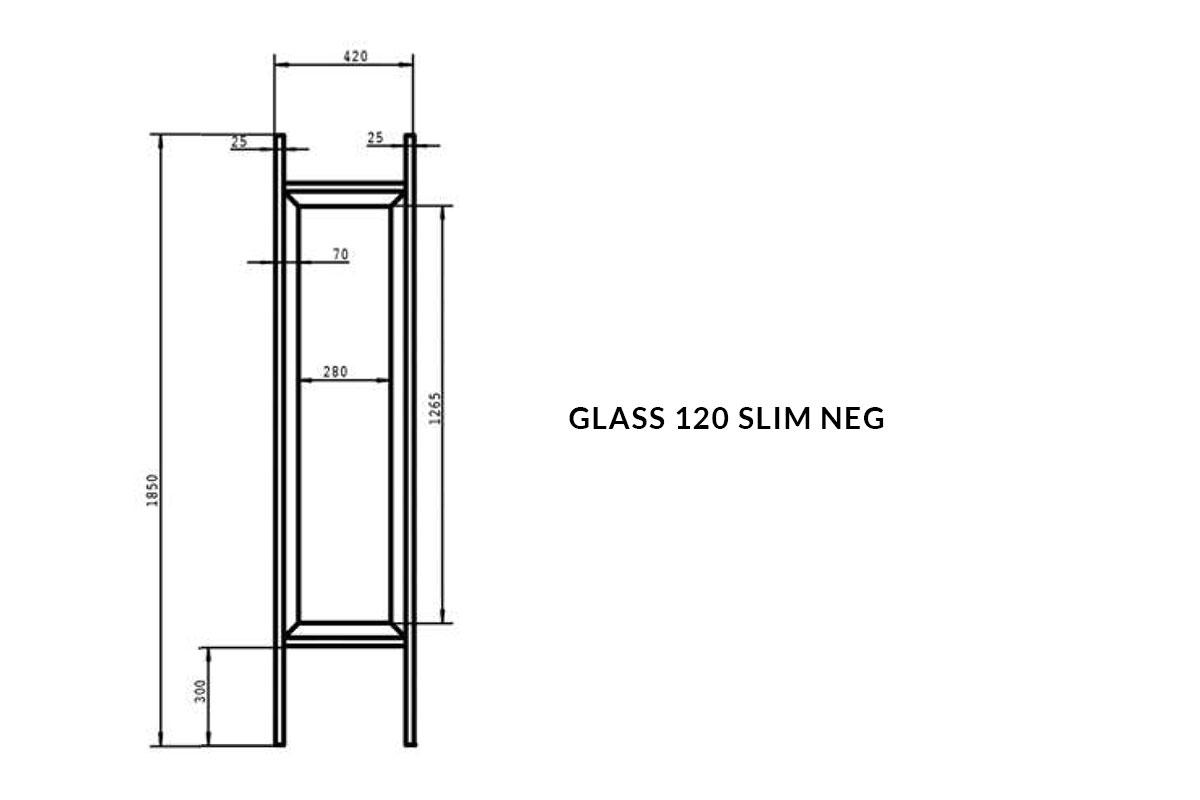 PICTOGRAMME ARMOIRE GLASS 120 SLIM NEG